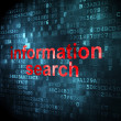 Information concept: Information Search on digital background — Stock Photo