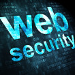 SEO web design concept: Web Security on digital background — Foto Stock