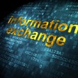 Information concept: Information Exchange on digital background — Stock Photo