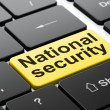 Protection concept: National Security on computer keyboard background — Stock Photo