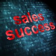 Marketing concept: Sales Success on digital background — Stock Photo