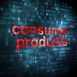 Business concept: Consumer Products on digital background — Stockfoto