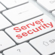 Privacy concept: Server Security on computer keyboard background — Stock Photo