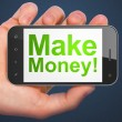 Business concept: Make Money! on smartphone — Stock Photo