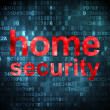 Security concept: Home Security on digital background — Stock Photo