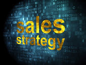 рекламная концепция: стратегия продаж на фоне цифровой — Стоковое фото