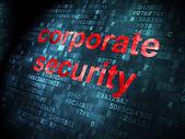 понятие безопасность: корпоративная безопасность на фоне цифровой — Стоковое фото