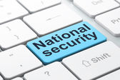 Privacy concept: National Security on computer keyboard background — 图库照片