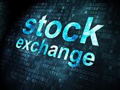 Finance concept: Stock Exchange on digital background — Stock Photo