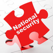 Safety concept: National Security on puzzle background — Stock Photo
