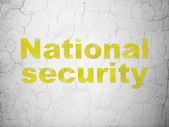 Security concept: National Security on wall background — Stock Photo