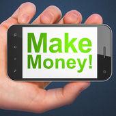 Business concept: Make Money! on smartphone — Stock Photo