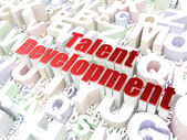 Education concept: Talent Development on alphabet background — Stock Photo