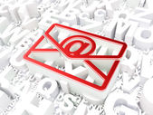 Business concept: Email on alphabet background — Stock Photo