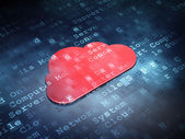 Cloud networking concept: Red Cloud on digital background — Stock Photo