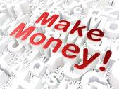 Business concept: Make Money! on alphabet background — Stock Photo