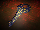 Security concept: Key on digital screen background — Stockfoto