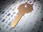 Safety concept: Golden Key on Binary Code background — Stock Photo