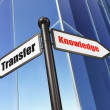 Stock Photo: Education concept: sign Knowledge Transfer on Building background