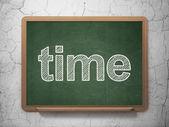 Timeline concept: Time on chalkboard background — Stock Photo