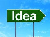 Koncepcja marketingu: pomysł na tło znak drogowy — Zdjęcie stockowe