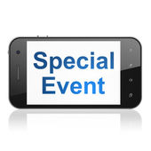 Business concept: Special Event on smartphone — Stock Photo