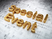 Business concept: Golden Special Event on digital background — Stock Photo