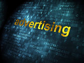 Advertising concept: Advertising on digital background — Stock Photo