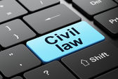 Law concept: Civil Law on computer keyboard background — Stock Photo