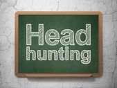 Business concept: Head Hunting on chalkboard background — Stock Photo