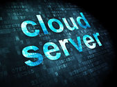 Cloud technology concept: Cloud Server on digital background — Stok fotoğraf