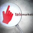 Stock Photo: Advertising concept: Mouse Cursor and Telemarketing with optical glass