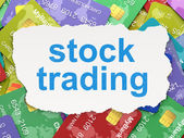Finance concept: Stock Trading on Credit Card background — Stock Photo