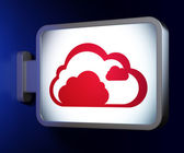Cloud technology concept: Cloud on billboard background — Stock Photo