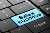 Marketing concept: Sales Success on computer keyboard background — Stock Photo