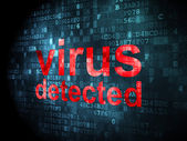 Protection concept: Virus Detected on digital background — 图库照片