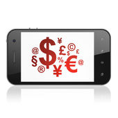 News concept: Finance Symbol on smartphone — Stock fotografie