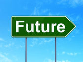 Timeline concept: Future on road sign background — Stock Photo