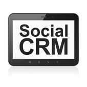 Business concept: Social CRM on tablet pc computer — Foto Stock