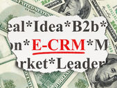 Business concept: E-CRM on Money background — Stock fotografie