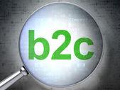 Business concept: B2c with optical glass — Foto de Stock