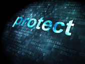Security concept: Protect on digital background — Stock Photo