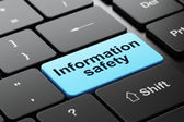 Protection concept: Information Safety on computer keyboard background — Stock Photo