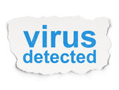 Privacy concept: Virus Detected on Paper background — Stockfoto