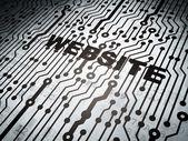 Web development concept: circuit board with Website — Stock Photo