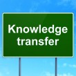 Постер, плакат: Education concept: Knowledge Transfer on road sign background