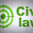 Law concept: target and Civil Law on wall background — Stock Photo