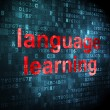 Education concept: Language Learning on digital background — Stock Photo