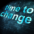 Timeline concept: Time to Change on digital background — Stock Photo #37604443