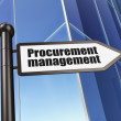 Stock Photo: Business concept: sign Procurement Management on Building background
